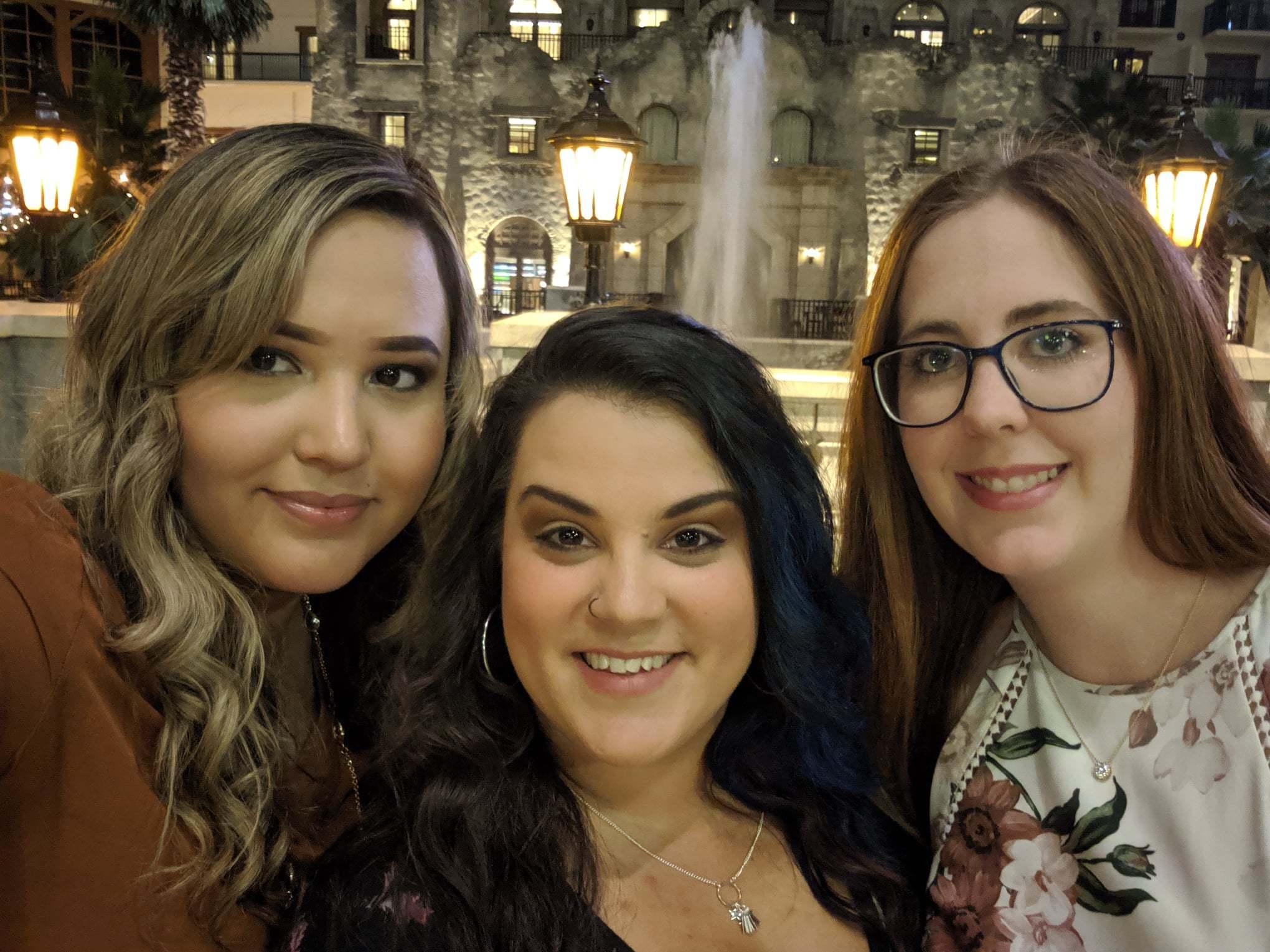 Photo of Karen, Nikki, and Brittney