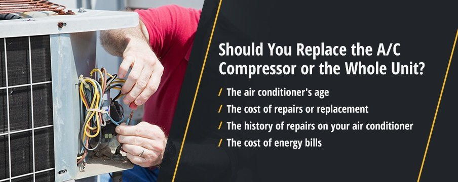 Should You Replace the A/C Compressor or the Whole Unit?